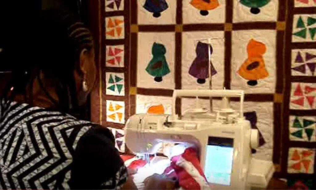 Aisha-sewing
